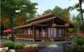 多楼名第木结构木屋制造-价格低服务好