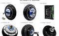 中菱5,5寸内置编码器机器人轮毂伺服电机驱动