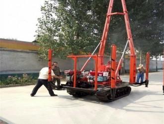 牵引式高速150型水井钻机安装步骤