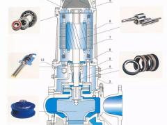 蓝深AS75-2CB污水泵,配套导杆吊链安装